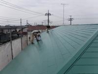 宇都宮市清原台 K様アパート 屋根塗装(中塗り・上塗り)