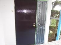 宇都宮市清原台  M様 玄関ドア塗装(中塗り・上塗り)