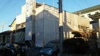 真岡市  T様邸   外壁塗装(架設足場組み立て)