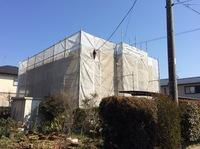 芳賀町 T様邸 屋根・外壁塗装(架設足場組立)