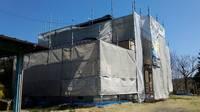 益子町 O様邸 外壁塗装(架設足場組立)