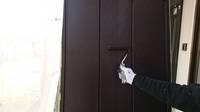 益子町 O様邸 雨戸塗装(施工前・下塗り・上塗り)