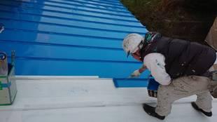 益子町 O様邸 納屋・屋根塗装(施工前)
