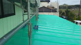 益子町 O様邸 納屋・屋根塗装(上塗)